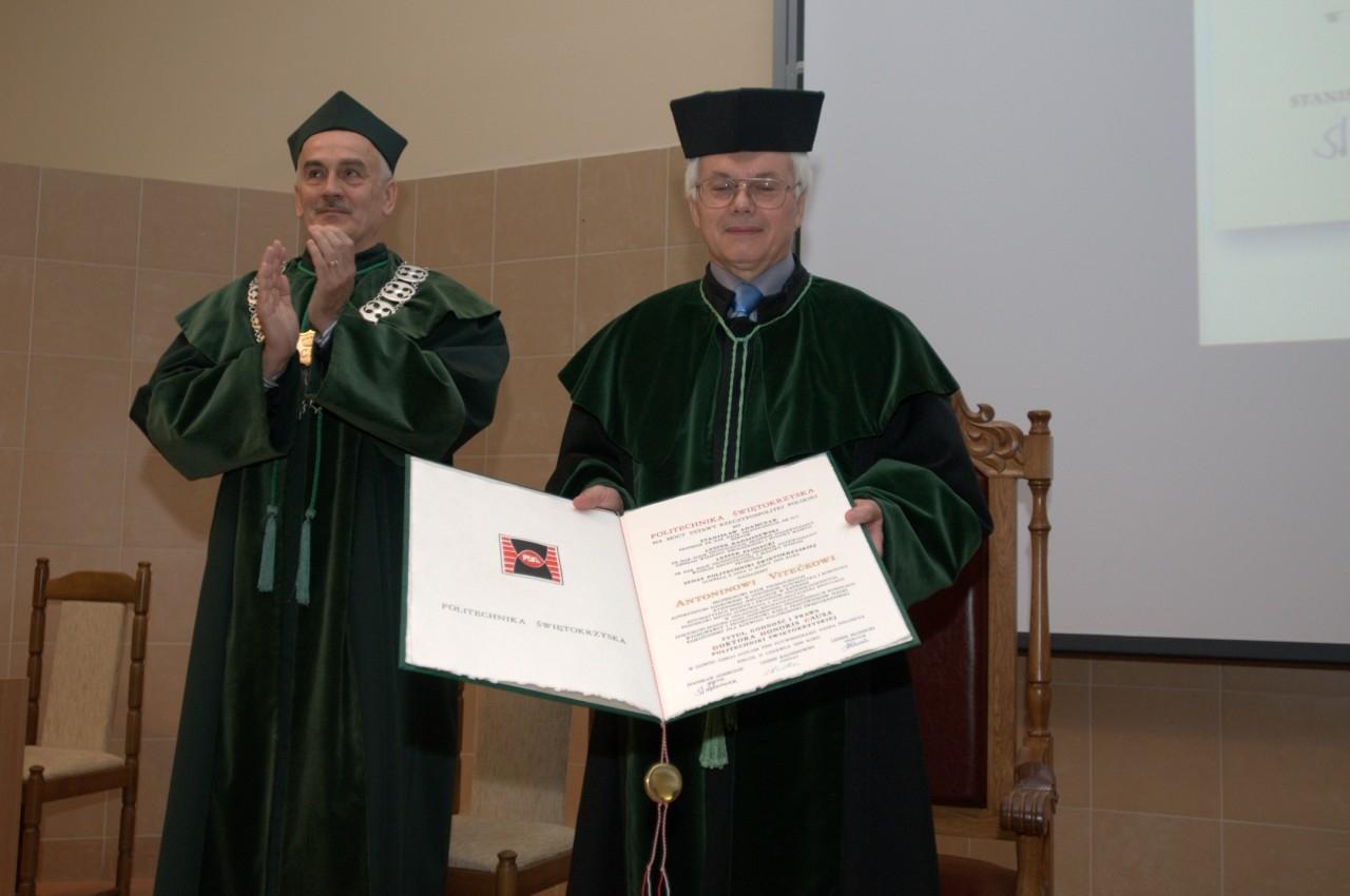 Nadanie tytułu doktora honoris causa Politechniki Świętokrzyskiej prof. dr hab. inż. dr h.c. Antoninowi Vitečkowi