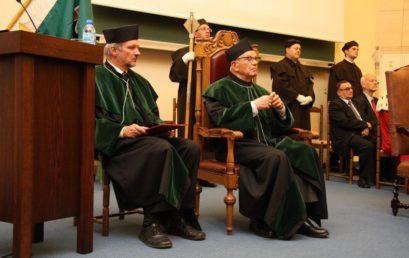 Nadanie tytułu doktora honoris causa prof. dr hab. inż. Władysławowi Włosińskiemu, czł. rzecz. PAN, dr h. c.