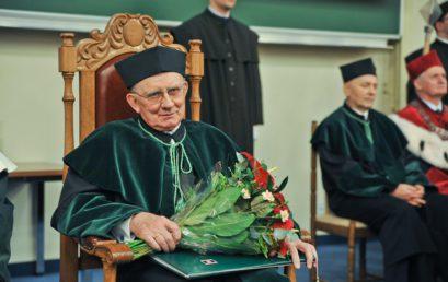 Nadanie tytułu doktora honoris causa prof. dr hab. inż. Kazimierzowi Fladze, dr h.c.