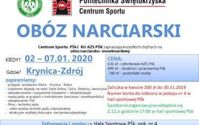 Obóz narciarski – Krynica 2020