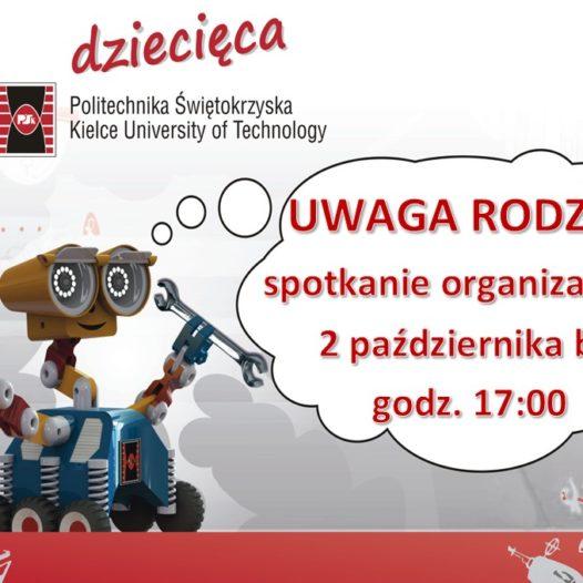 Spotkanie organizacyjne dla RODZICÓW studentów IV semestru